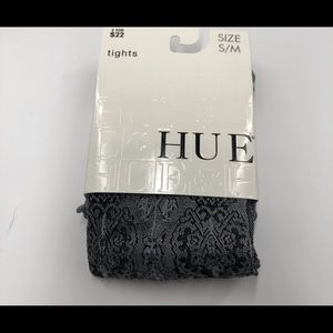 NWT HUE Black & Silver Chandelier Tights Size S/M